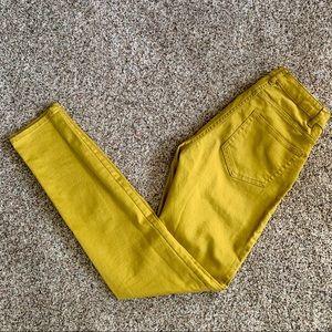 H&M Mustard Yellow Denim Skinny Jeans